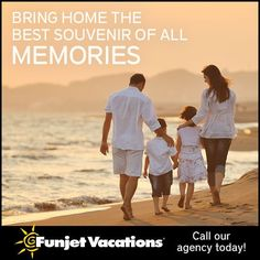Take your family on an adventure they will never forget! With Funjet All-Inclusive Vacations, you and your kids will enjoy endless activities and entertainment for one low price. Ask about current special and destinations for your family's next getaway. Call us Today at 1-888-790-9075 or visit www.jcdreamvacations.com
