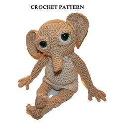 Elf Crochet PATTERN Hobby the House Elf by SpecialtyShoppe