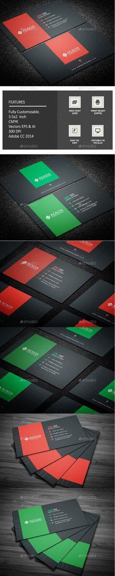 Elegant Business Card Design Template - Corporate Business Card Template Vector EPS, AI Illustrator. Download here: https://graphicriver.net/item/elegant-business-card-/17043688?s_rank=116&ref=yinkira