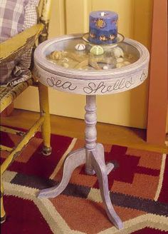 I've got to make one of these little display tables!  Barbara Jacksier: WATERSIDE WEDNESDAY: TABLE TALK