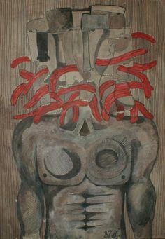 ''Headache'' 2007, acrylic on canvas / 100 × 70