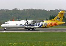ATR 72-202 de Aurigny Air Services en el Aeropuerto de Bristol.