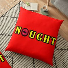 Vibrant double-sided print floor pillows are a versatile seating or lounging option that will update any room @originalpillowpets @noughtstore #pillow #nought Floor Pillows, Throw Pillows, Meaningful Gifts, Home Decor Items, Pillow Design, Vibrant, Cushions, Flooring, Prints