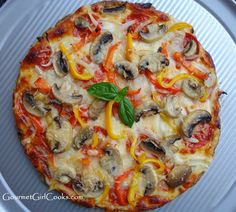 Gourmet Girl Cooks: Low Carb Herbed Pizza Crust -- NEW No-Flax Recipe!