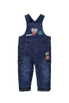 salopettebébé en  jeans doublée en  jersey avec patchs fantaisie - Retro  Racing - www.shop-orchestra.com aec308368e3