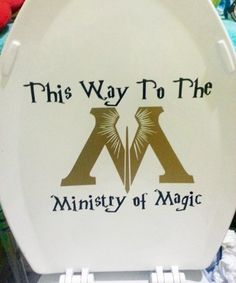 Harry Potter Ministry of Magic Bathroom Toilet Decal