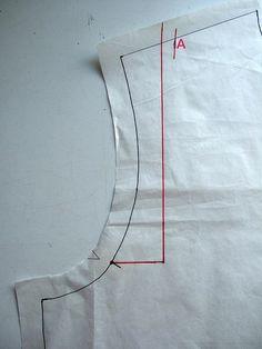 Shoulder adjustment on patterns