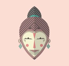 Máscaras africanas a project by choke. Domestika is the largest community for creative professionals. African Masks, Show And Tell, Design Inspiration, Illustration, Image, Designers, Behance, Mascaras, Illustrations