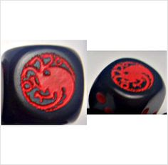 House TARGARYEN - Custom PAIR of ENGRAVED Dice - A Game of Thrones on eBid United States