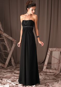 bridesmaid dresses black - Google Search. or this one for them.