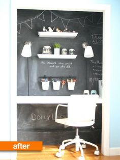 Before & After: Turn a closet into a mini office