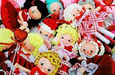 Valentine Darlings | Flickr Vintage Bohemian, Vintage Decor, Kitsch, Daisy, Goodies, Dolls, Christmas Ornaments, Holiday Decor, Artist