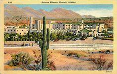 Phoenix, Arizona AZ Map - Vintage 1950s Original Heart of Phoenix ...