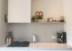 nieuwe tegels keuken Dinner Room, Splashback, Küchen Design, Interior Design Kitchen, Cozy House, Home Kitchens, Sweet Home, New Homes, Kitchen Cabinets