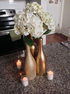 Wine Bottle Centerpiece Mock-Up Complete! - Weddingbee
