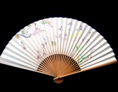 Japanese Hand Fan Cherry Blossoms Flowers by VintageFromJapan, $9.50