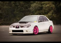 STi. I don't like pink and I'm only repinning this because I love the color contrast.
