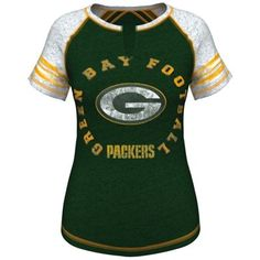 Women's Green Bay Packers Majestic Green More Than Enough V-Neck T-Shirt