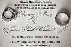 Elegant White and Silver Wedding Invitation with Wedding Rings | St Petersburg Florida Wedding Photographer Limelight Photography