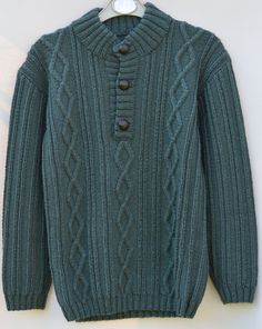 Boys Green Sweater Cashmere Jumper Knitted by CJsHandknits on Etsy