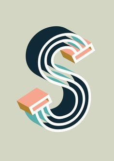 Typography Bold S Art Print