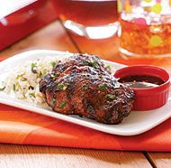 Grilled Five-Spice Chicken Thighs with Soy-Vinegar Sauce & Cilantro