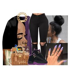 """""""Rihanna"""" by whatevas ❤ liked on Polyvore featuring OPI, NIKE, Michael Kors and JanitaLuckett"""