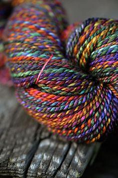 My Handspun from All Spun Up 50/50 Merino/Silk
