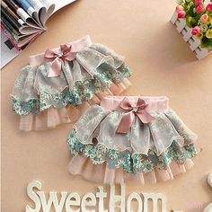 New Baby Kid Bowknot Floral Skirt Girl All-Match Flower Tutu Ruffle Tiered Dress