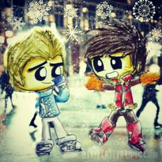 """It's Ice Skate Ever! Snowing makes me happy, very pleasant. Zane and Kai were playing Ice Skate. But, Kai can not play Ice Skate. """"Are You Okay?"""" Zane. """"I Okey, Zane... Ooh Ahh ..."""" Kai."""