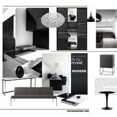 B L A C K Home Interior by efashiondiva7 on Polyvore for edesignhome.org Top Home Set 25.03.2015