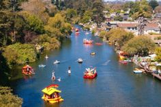 Capitola Begonia Festival floats (literally down the river!) Its pretty and fun! capitola california