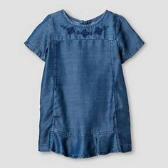 Baby Girls' Chambray Dress Blue - Genuine Kids from Oshkosh™ : Target