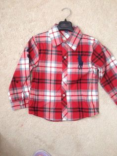 boys, plaid, polo, dress shirt Polo Logo, Picture Day, Red Plaid, Big Boys, Dress Shirt, Family Photos, Denim, Fall, Clothing