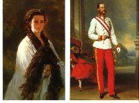 ROYALTY AUSTRIA - 2 cards Empress Elisabeth of Austria ~ Sissi - Sisi ~ & Emperor #5044