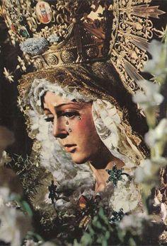 The statue of La Esperanza Macarena, or the Virgin of Hope of Macarena, in Seville, Spain.