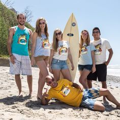 Rip It, Roll It, Punch It, w/ Crush's Surf School BUNDLE - Pick Your Shirt & Get the Pin!