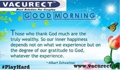#GoodMorning... This Beautiful Day is Saying Today Do Something New... #PlayHard http://www.vacurect.in