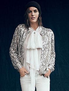 Fit to be Tied Lurex Blouse - free people