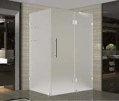 """Aston SEN992F-4236-10 Avalux GS 42"""" Wide x 36"""" Deep x 72"""" High Frameless Hinged Stainless Steel Showers Shower Enclosures Hinged"""