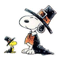 Peanuts Snoopy & Woodstock Pilgrim Thanksgiving