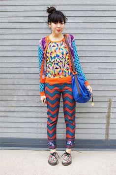 Suzie Bubble at New York Fashion Week