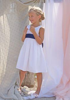 Robe baptême Fille Julie Blanche - Les petits Inclassables