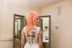 "@meganbervenmakeup posted to Instagram: ""Beauty begins the moment you decide to be yourself."" – Coco Chanel  #cocochanel #peach #unique #rocknrollbride #weddingday #makeupartist #weddingdress #bride #weddingphotography #weddinginspiration #punkwedding #instawedding #tulsa #peachhair #tattoos #tattooedbride Punk Wedding, Wedding Make Up, Wedding Things, Outside Wedding, Wedding Reception, Wedding Venues, Wedding Day, Bouquet Wedding, Wedding Nails"