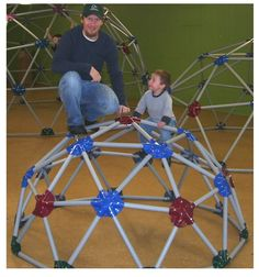 Dome Climber Jungle Gym Monkey Bars. This one is small enough to fit indoors!