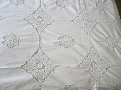 Vintage Linens  Vintage Tablecloth by JewelsOfHighElegance on Etsy, $22.50