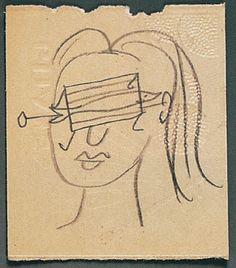 * Etude pour tête de femme masquée Pablo Picasso, avril 1937