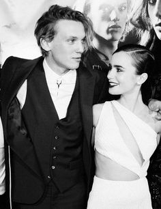Lily and Jamie at the City of Bones Los Angeles Premiere. (August 12th, 2013)