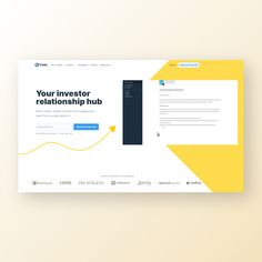 Clean and impactful web design for a SaaS communication software. Best Web Design, Web Design Inspiration, Investors, Communication, Software, Communication Illustrations