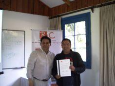 Entrega certificacion con el Relator Raul Herrera